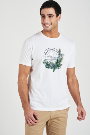 Remera mangas cortas Into the wild de jersey