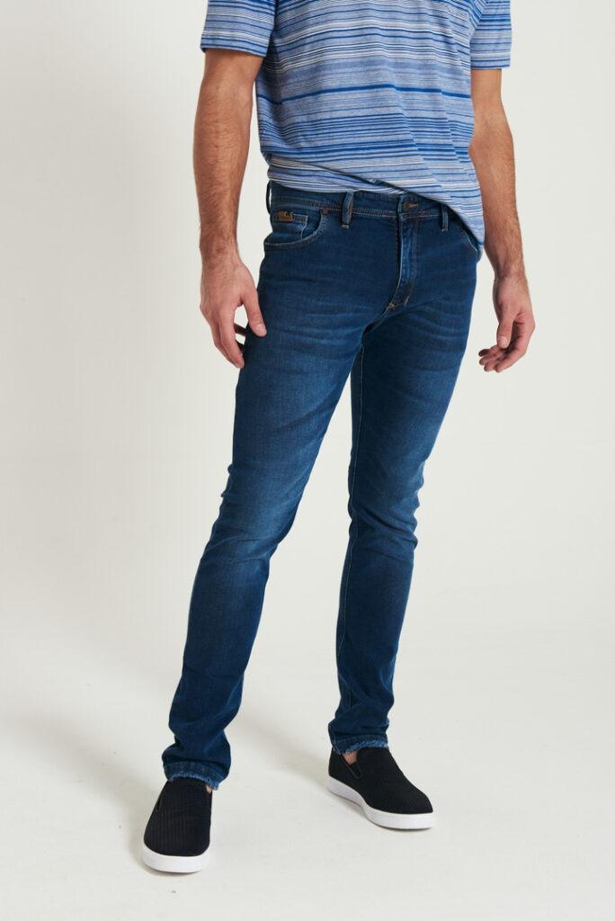 Jean slim fit de indigo azul